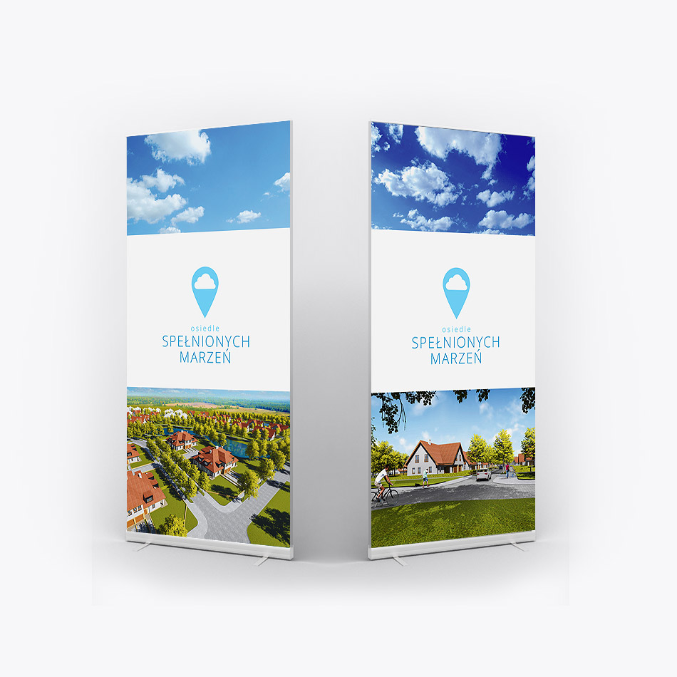 visual identification, brand identity, housing investment, rollup design