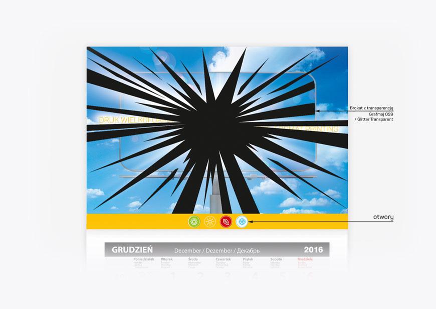 kalendarz firmowy, projekt, ilustracja