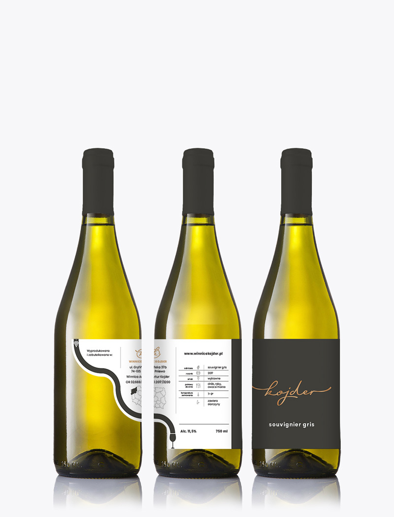 wine label design, winnice kojder, packaging design