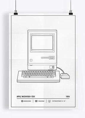 Retro komputery / plakaty